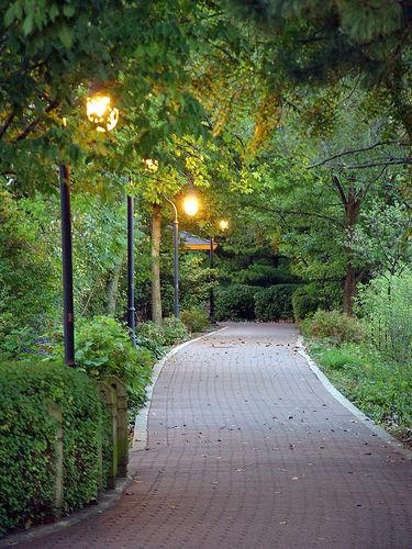 Naperville Riverwalk Brick Path